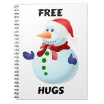 Libere el muñeco de nieve del navidad de los libretas espirales