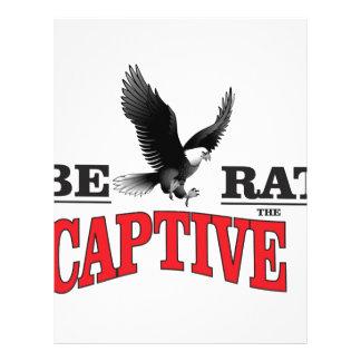 libere el pájaro de los esclavos membretes personalizados