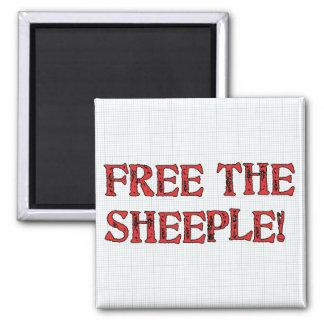 ¡Libere el Sheeple! Imán De Nevera