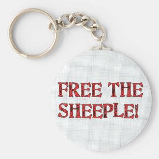 ¡Libere el Sheeple! Llavero Redondo Tipo Pin