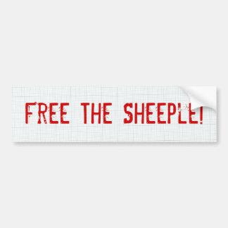 ¡Libere el Sheeple! Pegatina Para Auto