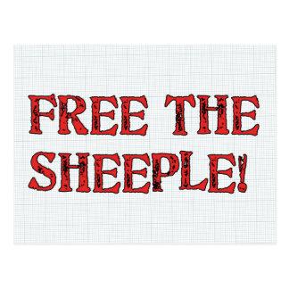 ¡Libere el Sheeple! Tarjeta Postal