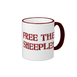 ¡Libere el Sheeple! Taza De Dos Colores
