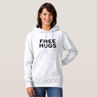 Libere el suéter con capucha de los abrazos -