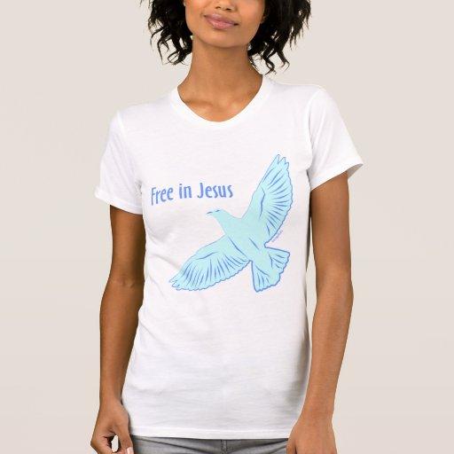 Libere en Jesús (la luz) Camisetas