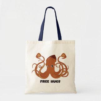 Libere la bolsa de asas del calamar de los abrazos