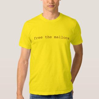 libere la camiseta de los mallocs playeras