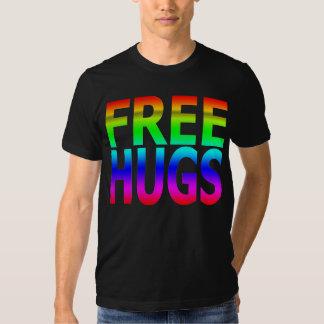 LIBERE la camiseta del arco iris de los hombres de Playera