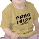 Libere la camiseta del bebé del hámster del dibujo
