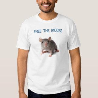 Libere la camiseta del ratón playera