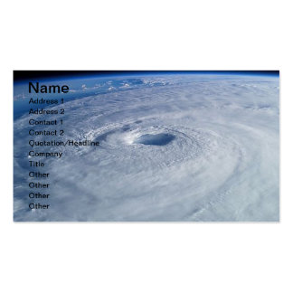 Libere la foto común del huracán Isabel, nómbrela, Plantilla De Tarjeta De Visita