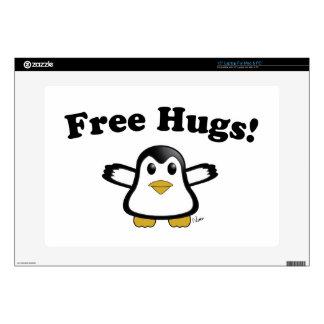 Libere la piel del ordenador portátil del pingüino portátil calcomanía
