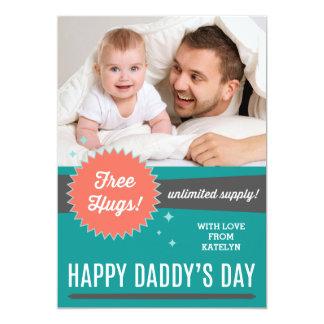 """Libere la tarjeta plana del día de padre de los invitación 5"""" x 7"""""""