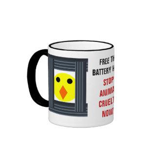 Libere la taza de las gallinas de batería