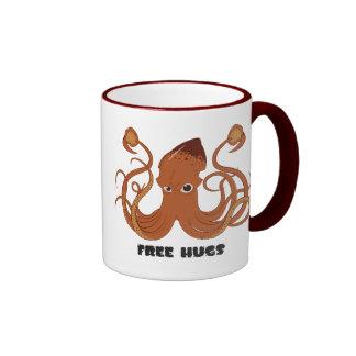 Libere la taza del vidrio del calamar de los
