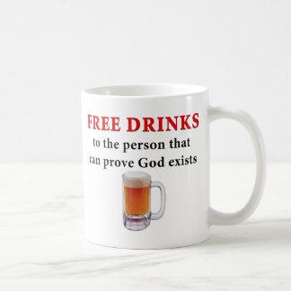 Libere las bebidas tazas de café