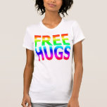 LIBERE las camisetas sin mangas del arco iris de l
