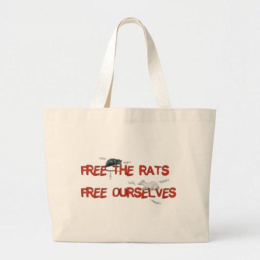 Libere las ratas bolsa tela grande