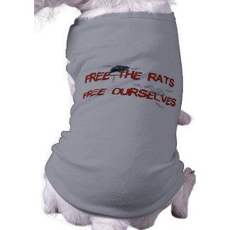 Libere las ratas camisetas mascota