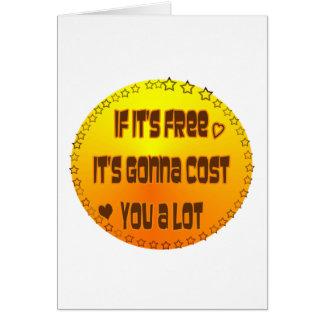 ¿Libere - libere? Tarjeta De Felicitación
