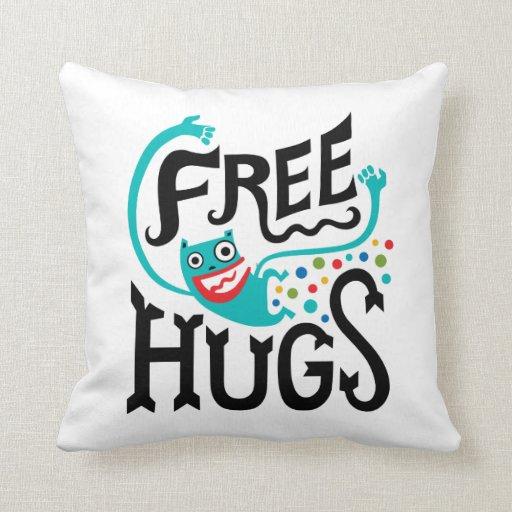 Libere los abrazos - almohada cojín decorativo