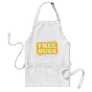 Libere los abrazos - amarillo delantales