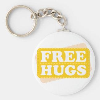 Libere los abrazos - amarillo llavero personalizado