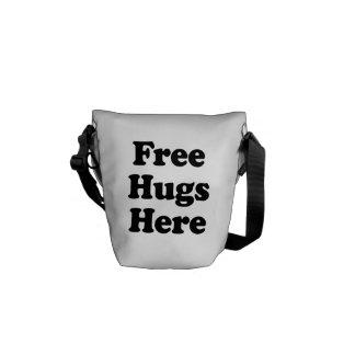 Libere los abrazos aquí bolsa de mensajeria