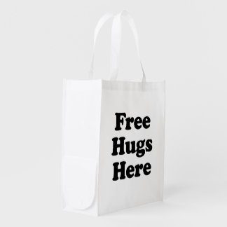 Libere los abrazos aquí bolsas de la compra