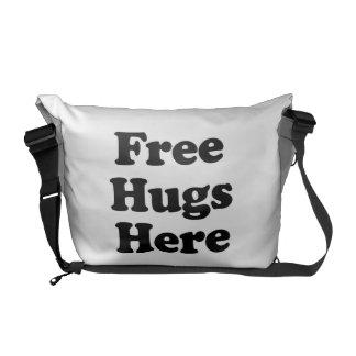 Libere los abrazos aquí bolsas de mensajería