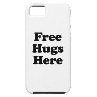 Libere los abrazos aquí funda para iPhone SE/5/5s