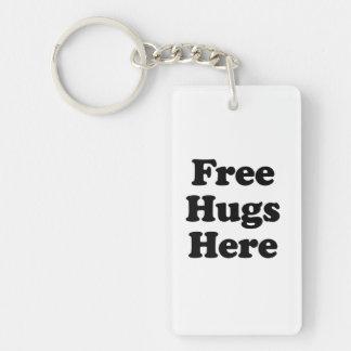 Libere los abrazos aquí llaveros