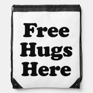 Libere los abrazos aquí mochila