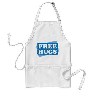 Libere los abrazos - azul delantales