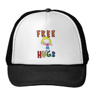 Libere los abrazos - chica gorros bordados