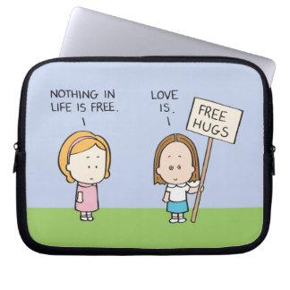 Libere los abrazos fundas computadoras