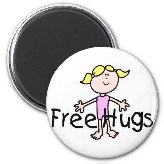 Libere los abrazos imán de frigorífico