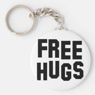 libere los abrazos llavero personalizado