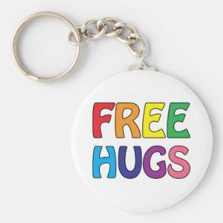 Libere los abrazos llavero redondo tipo pin