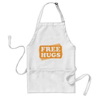 Libere los abrazos - naranja delantales