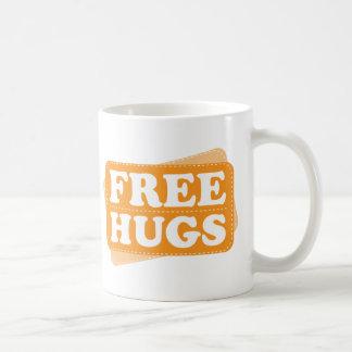 Libere los abrazos - naranja taza de café