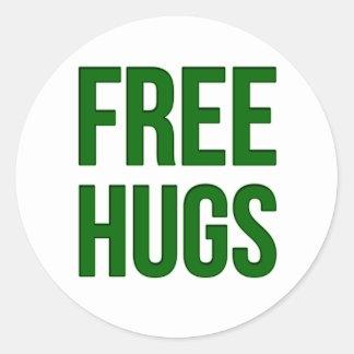 Libere los abrazos etiquetas