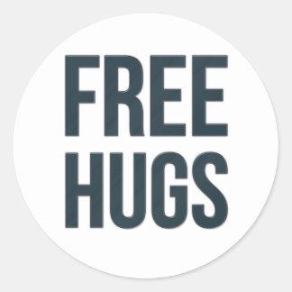 Libere los abrazos pegatina redonda