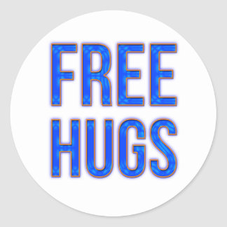 Libere los abrazos etiqueta redonda