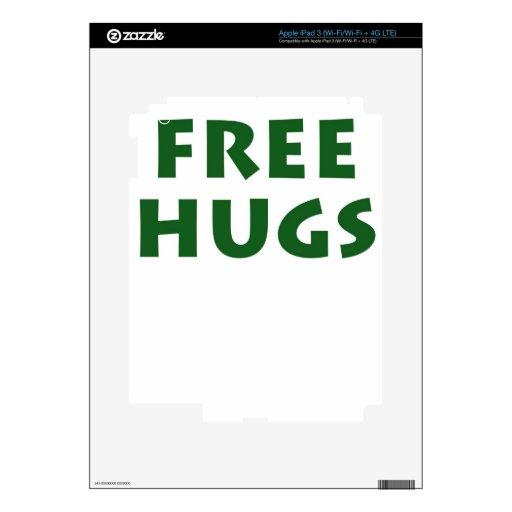 Libere los abrazos pegatina skin para iPad 3