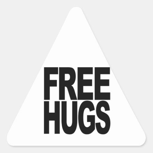 Libere los abrazos pegatina triangular