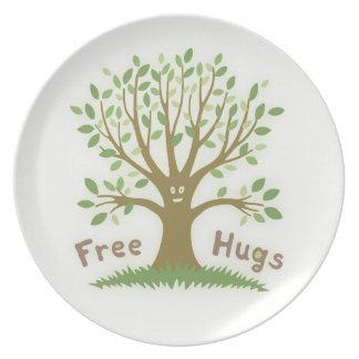 Libere los abrazos plato de comida