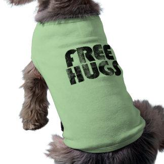 Libere los abrazos playera sin mangas para perro