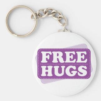 Libere los abrazos - púrpura llaveros