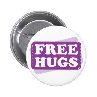 Libere los abrazos - púrpura pin